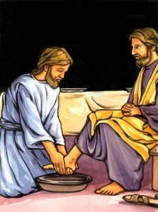 The traditions of Maundy Thursday when Christians remember Jesus' Last Supper - Easter - Topmarks