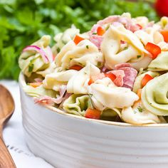Good if we want to pack a lunch or more substantial snack! Zesty tortellini salad