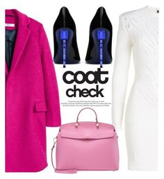 """""""Go Bold: Statement Coats"""" by blackadonia ❤ liked on Polyvore featuring MANGO, Balmain, Yves Saint Laurent, Furla, Louis Vuitton and statementcoats"""