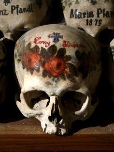 Remembering The Dead: The Bone House In Hallstatt, Austria. Beinhaus In  Hallstadt