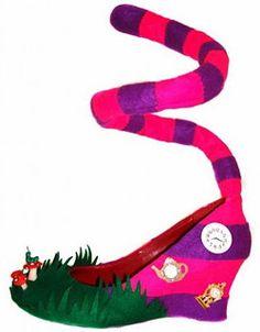 cheap for discount af2c1 bbc26 los zapatos de Alicia en el país de las maravillas Smilkatten, Skor  Klackar, Höga