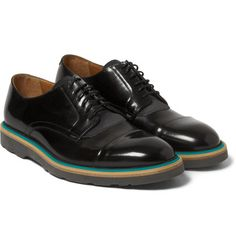 Paul Smith Shoes & AccessoriesRubber-Soled Polished-Leather and Suede Derby Shoes