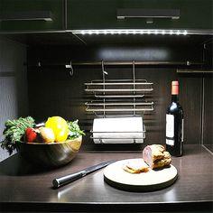 Монтаж светодиодной ленты на кухне своими руками: как установить подсветку, видео-инструкция