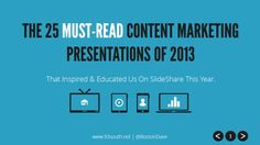 The 25 Must-Read Content Marketing Presentations of 2013 by David Laubner via slideshare Marketing Digital, Content Marketing, Marketing And Advertising, Online Marketing, Marketing Presentation, Motion Video, Video Background, Creative Writing, Social Media