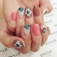 #nail#nails#nailart#naildesign#esnail#esnail_shibuya#gelnail#ネイル#エスネイル#ジェルネイル@esnail_la#autumnnails#boho#fringenail#bohemian#fringe#autumnnail#秋ネイル#newnail