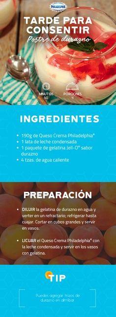 Esa plática con tus peques después de la escuela será mejor con un Postre de durazno. #recetas #receta #quesophiladelphia #philadelphia #crema #quesocrema #queso #comida #cocinar #cocinamexicana #recetasfáciles #recetasPhiladelphia #recetasdecocina #comer #postre #durazno #postres #gelatina #recetapostre #recetadurazno