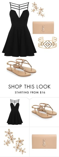 """""""Untitled #9747"""" by beatrizibelo ❤ liked on Polyvore featuring Topshop, Accessorize, Bonheur, Yves Saint Laurent and Stella & Dot"""