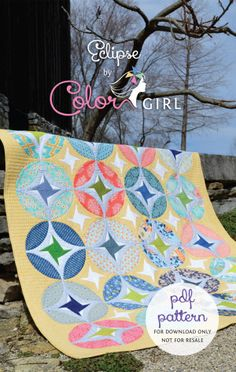 Eclipse quilt by Color Girl, patchwork quilt pattern