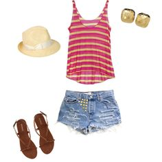 Casual beach wear, created by cminnick on Polyvore