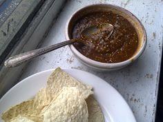 Tomatillo salsa with chile pasilla oaxaqueña - The Mija Chronicles