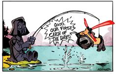Little Kylo Ren Finds His Mom's Slave Outfit in New CALVIN & HOBBES STAR WARS…