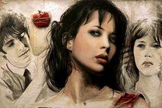 dipinto su tela, acrilico e argilla 120x80