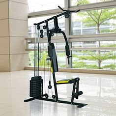 Soozier 100 lb Stack Home Gym Equipment Machine | Home Gym Weight Machines