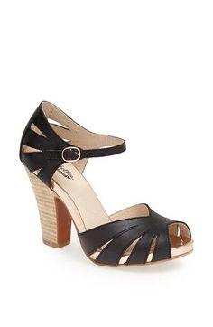 block heel black #sandal