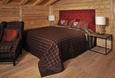 MOUNTAIN DELUXE_bed_red_4068_print Red Bedding, Comforters, Blanket, Mountain, Furniture, Home Decor, Red Beds, Bed Ideas, Home Decor Accessories