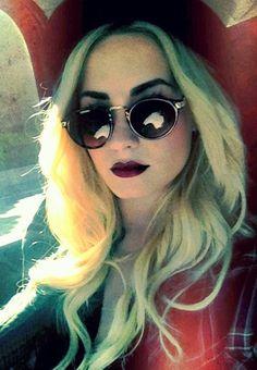 Dark Lips W/ Shades--Demi Lovato