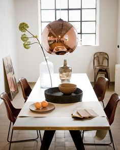 Afbeelding koperen lamp