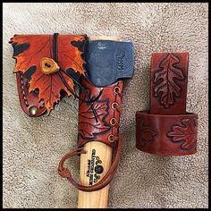 Gransfors Bruks Wildlife Hatchet # 415 with New Design Custom Leather by John Black