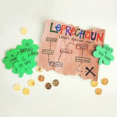 Leprechaun Larry's Exercise Map - A treasure hunt with a twist - an inspired idea.