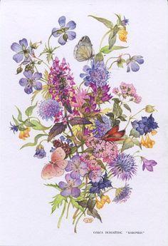 watercolors paintings of olga Ionaytis -