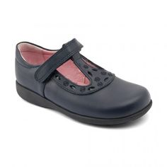Beta, Navy Blue Leather Girls Riptape School shoes - School Shoes another… Black School Shoes, Leather School Shoes, Childrens Shoes, Boys Shoes, Navy Blue, Footwear, Sandals, Stylish, Boots