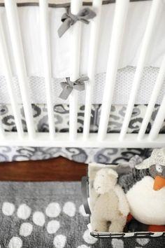 Bumper | Urban Ikat in Gray Crib Baby Bedding Set