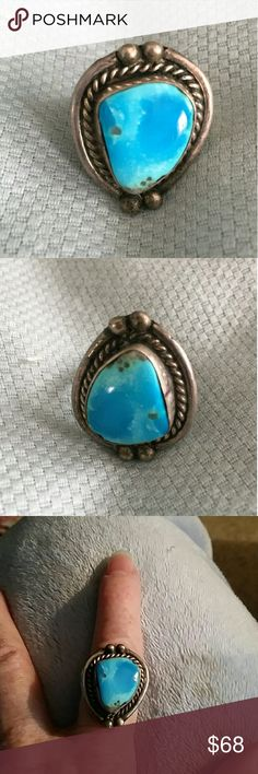 Spotted while shopping on Poshmark: Vintage Sterling Silver Turquoise Ring Sz 6.5! #poshmark #fashion #shopping #style #Jewelry