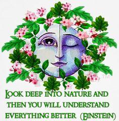 Look Deep into Nature...~ Albert Einstein /  Hippie Witches Bohemian Paradise