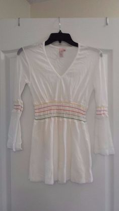 Women's SWEET PEA nylon tunic white sz M runs small Beautiful Condition | Clothing, Shoes & Accessories, Women's Clothing, Tops & Blouses | eBay!