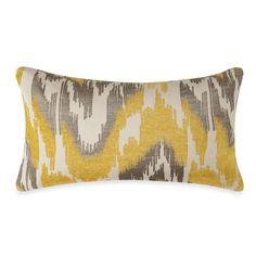 yellow taupe gray throw pillow