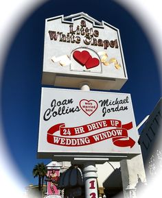 "Where my lovely bride and I just renewed our vows in Las Vegas -- completely with Elvis serenading us with ""Love Me Tender"" and ""Can't Help Falling in Love."""