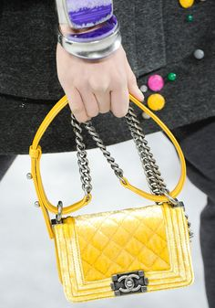 not ready for Fall, but so ready for this lovely yellow Chanel Fall 2012 bag!