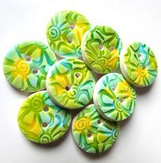 Tropical Splash Buttons