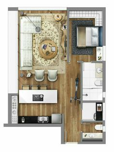 Little apartment floor plan.