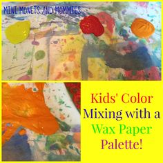 For easy clean-up - try a wax paper paint palette!