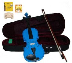 GRACE 34 Size Blue Acoustic Violin with Case and BowRosin2 Sets Strings2 BridgesTuner *** Be sure to check out this awesome product.Note:It is affiliate link to Amazon.