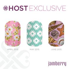Ask me how you can earn these hostess exclusive wraps!  http://roxanneschuermann.jamberrynails.net