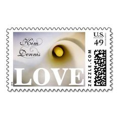 Personalized Names Calla Lily Love Postage Stamps Coral - Personalized Name and Date Calla Lily Postage Stamps with Coral Ampersand. Perfect for weddings and bridal showers. Vow Renewal Invitations, Wedding Invitations, Wedding Anniversary Gifts, Anniversary Parties, Coral Color Schemes, Vow Renewal Ceremony, Wedding Stamps, Zantedeschia Aethiopica, Love Stamps