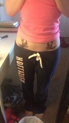 Hip Bone Tattoos on Pinterest   Feather Hip Tattoos, Lower ...
