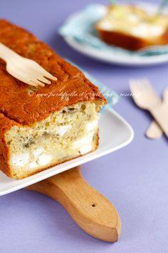 Cake alle melanzane, feta e basilico