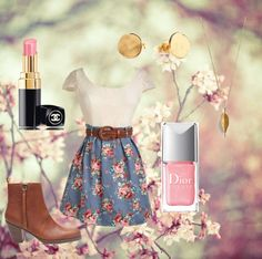 """""""Light pink spring"""" by hmoran-1 ❤ liked on Polyvore"""