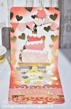 The Dining Room Drawers: Karen Burniston Cake Pop Up Birthday Card