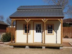 Here's a neat 12x16 barn shed with side porch built by one of my customers who purchased the barn building plans for only $9.95