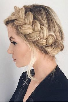 The Perfect Updo! 40 Stunning Hairstyles You Can Do Yourself: Braided Updo. For more ideas, click the picture or visit www.sofeminine.co.uk