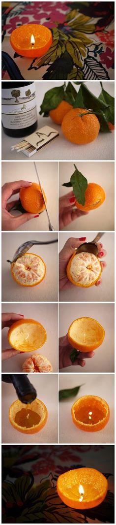 Portakal Mandalina Kokulu Mum Yapımı   Tasarım Harikası