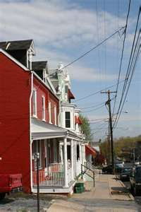 Lancaster, PA row houses.  My Grandparents lived in one of these.