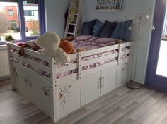 Ikea Stora hack, with lots off storage underneath! No one can see the clutter! Very happy with it!