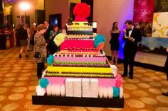 The Boston Children's Museum hosted its 100th anniversary gala on October 5, and it celebrated the big event with an appropriately sized dessert display. The catering team at the Intercontinental Boston topped a giant prop cake with nostalgic desserts such as cake pops, mini whoopie pies, mini Twinkies, and chocolate-dipped strawberries.