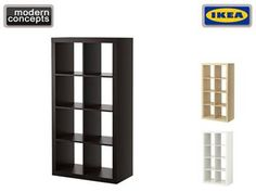 IKEA - EXPEDIT shelving unit 2x4. Shelves in white