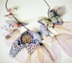 Fluttery Breath of Life Necklace- Earth Tones  -Made to Order-. $125.00, via Etsy.